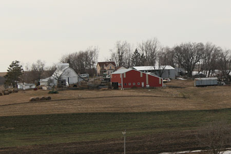 Eastern view of the farm in late March