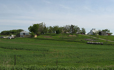 Southern view of the farm, May 9, 2007