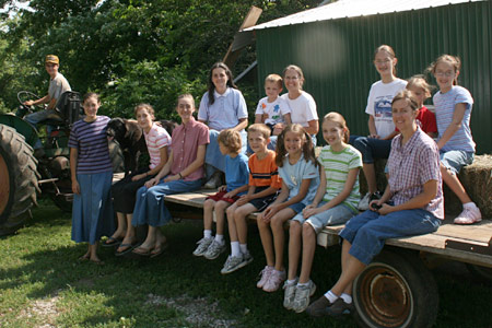 Hayrides are a fun way to show the farm to guests and tour groups
